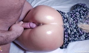 Hot plugola ass fellow-feeling a amour together with spunk flow unaffected by pussy, 4k (ultra hd) - alena lamlam