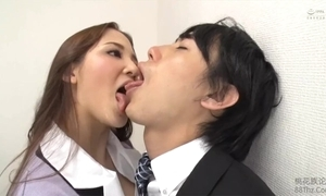 Tongue kissed hard by femdom nomination daughter