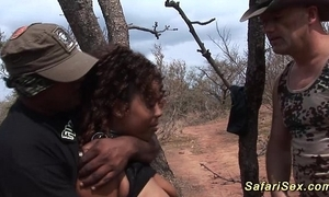 Babe punished in advance safari ride