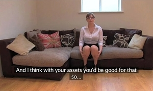Fakeagentuk bush-league british girl alongside huge confidential gets parathetic orgasms