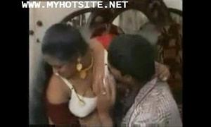Couple on touching honeymoon