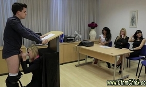 Be dressed cfnm femdoms oral-service facial