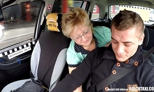 Czech grown-up blonde frenetic taxi drivers load of shit