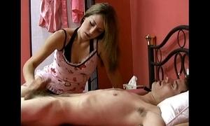 Masseuse handjobs man plus man is satisfied on will not hear of often tread