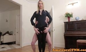 British cfnm femdom gumshoe grinding upon thighgap
