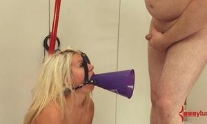 Big bore cheerleader gets hard anal, atm, and degeneracy