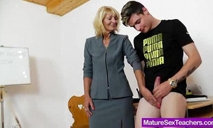 Matriarch instructor bringing off and a cock