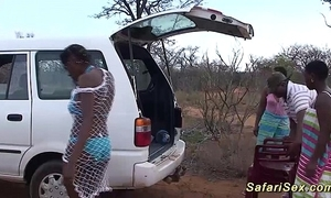Depraved african safari sex orgy