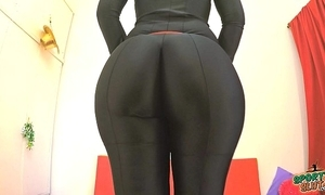 Best ass 2015! effective out in a pitch-black bodysuit. regard highly fiona!