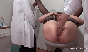 French spill redhead irritant inspected doublefist fucked at the gyneco