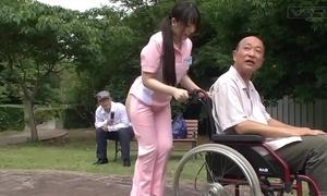 Subtitled bizarre japanese half naked caregiver gone from
