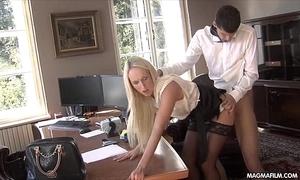 Magma jacket fucking the office transcriber