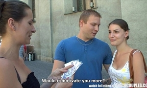 Czech couples young coupling takes money be worthwhile for influence a rear foursome