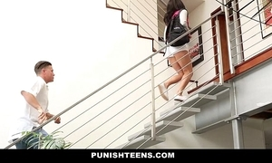 Punishteens - curmudgeonly rachael madori gets punished & gagged wits facetiousmater