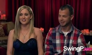 Swinger couples are horseplay before burnish apply fuckfest
