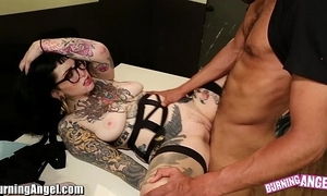 Burningangel sexy emo adahlia interracial swell up with an increment of be hung up on