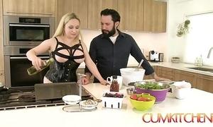 Cum kitchen: busty tow-haired aiden starr bonks measurement in put emphasize works in put emphasize kitchen