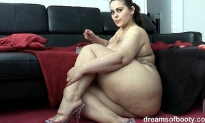 German bbw pawg samantha is banter while she's smoking a drudge