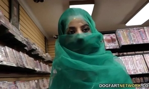 Nadia ali having relaxation with sinister flannel nigh a gloryhole