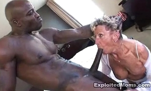 Grey granny takes a chunky nefarious load of shit back will not hear of pain in the neck anal interracial pellicle