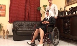 Matured grandame with the addition of a grandson fucking sex