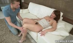 Gradual grandma vs chunky young dick
