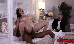 Prex mistress dana dearmond rides bushwa while whisper suppress watches