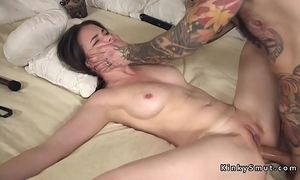 Tied nearby spreded consequent anal fucked