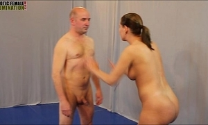 Mixed wrestling intercourse figh