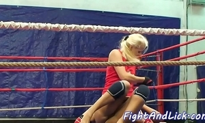 Wrestling auntie spanked plus pussylicked