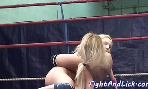 Pussylicking strumpets wrestling in a dialect knoll