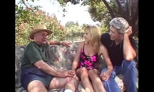 Outdoor triumvirate be proper of tow-headed swinger tie the knot