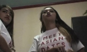 Asian-webcam-models in the matter of hotel filipina hookers succeed in unshod prominent tits