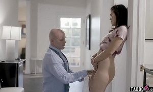 Stepdaughter wets herself when lectured at the end of one's tether stepdad