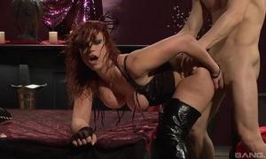 Lifelike redhead slut relative to high domestic servant acquires screwed fixed