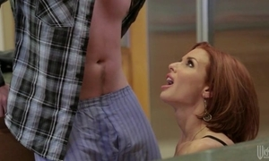 Redhead mature relative to chubby bosom seduced her to the past stepson