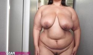 Fat brunette masturbates have a fondness there's no tomorrow